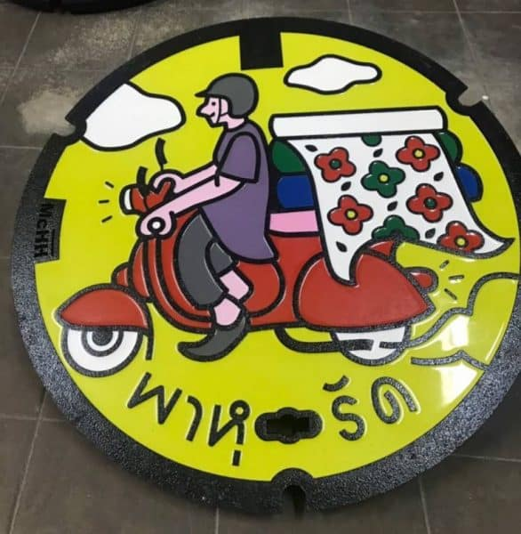 New design manhole covers to be introduced as part of Bangkok's landscaping