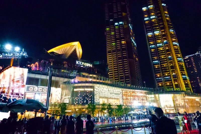 French luxury brands such as Louis Vuitton and Cartier at the opening of the Iconsiam mall in November 9, 2018 in Bangkok.