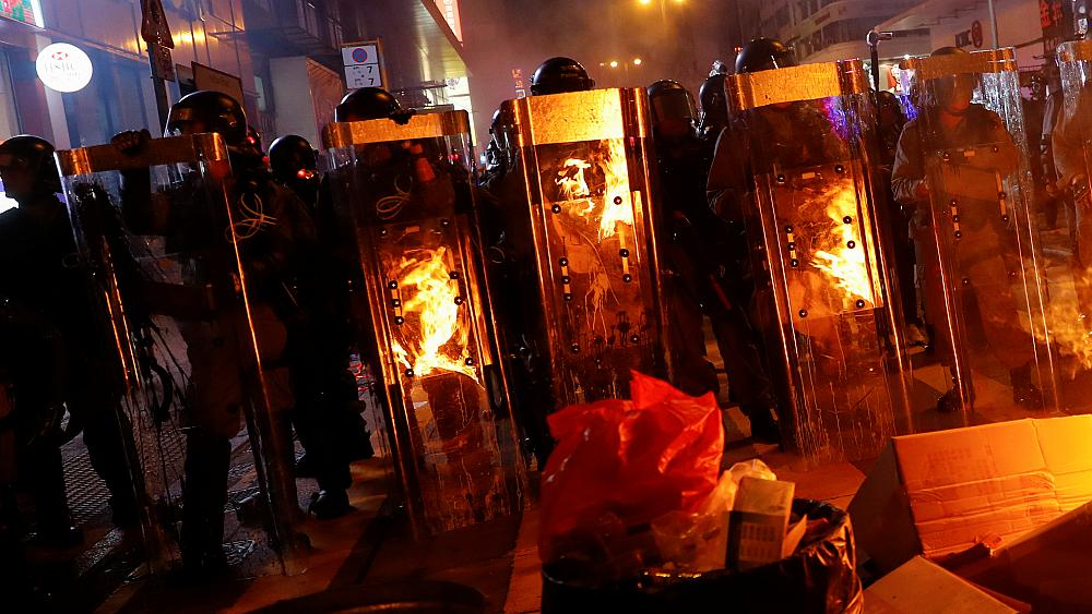Police step up presence after protesters target Hong Kong airport