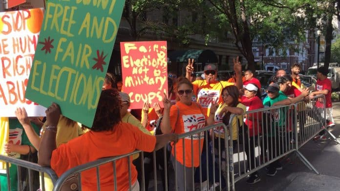 Protesters Rally Against Prayuth in New York – But Say They Aren't Thais