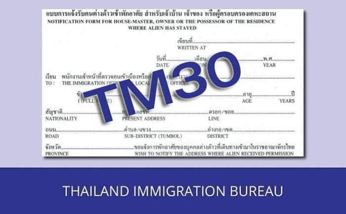 Thai immigration Chief says TM30 law is outdated and needs to change