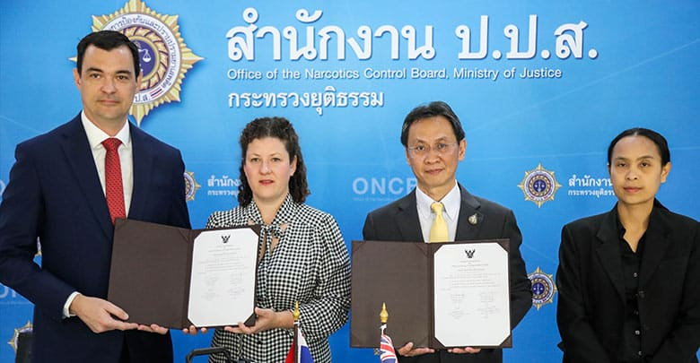 Thailand and Australia exchange drug samples for research