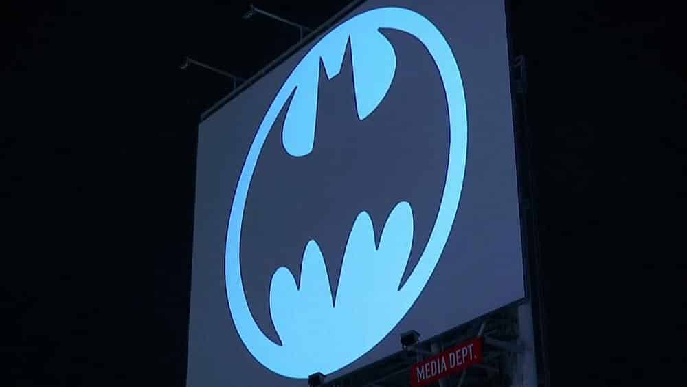 Batman symbol beamed into sky as caped crusader turns 80