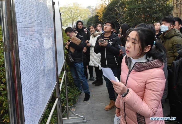 1.44 Million Vie for 24,000 Civil Service Vacancies in China
