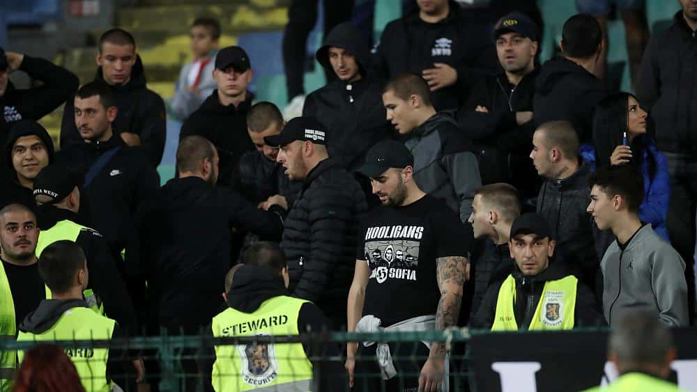 Bulgaria told to play match behind closed doors over fans' racist abuse of England players