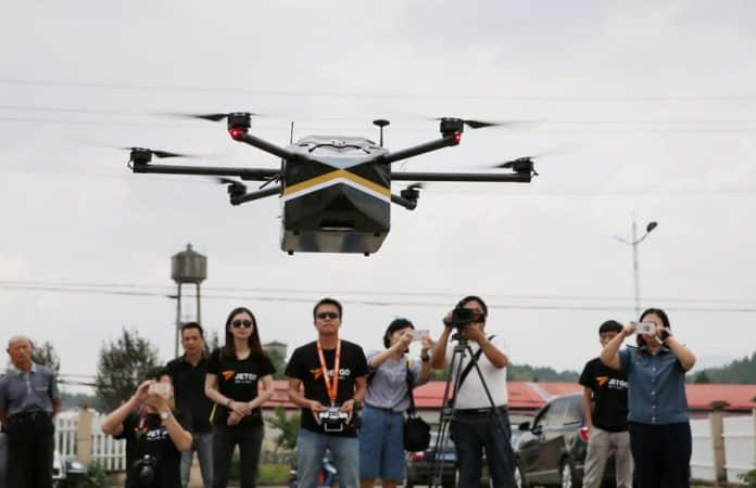 China Grants First License for Drone Delivery Test-Running
