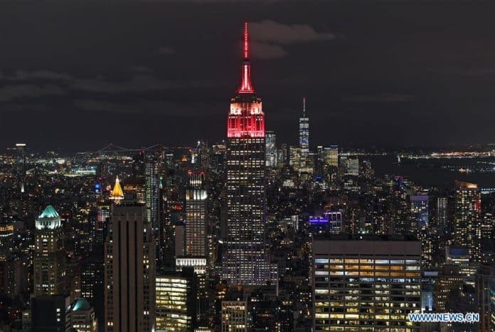 Empire State Building Illuminated for China National Day