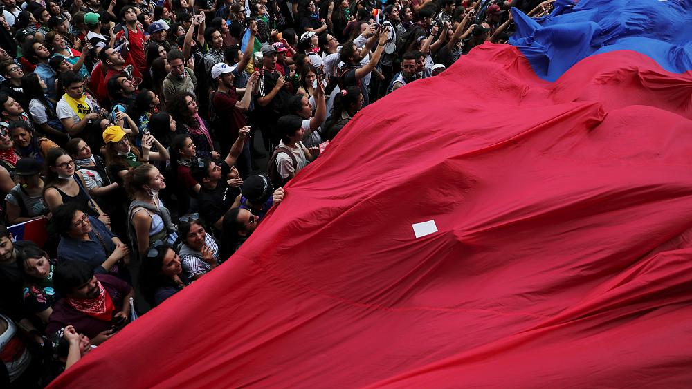 One million march in Santiago as Chile protest movement swells