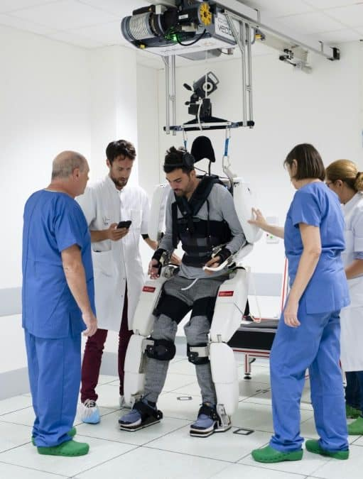 Paralysed man walks again with brain-controlled exoskeleton