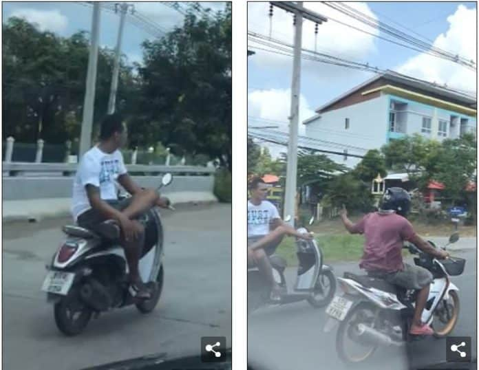 Video: The most relaxed motorcyclist in Thailand