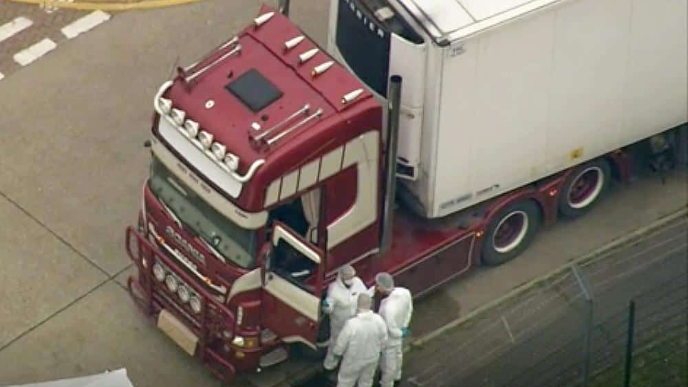 All 39 people found dead in truck container were Vietnamese, British police say