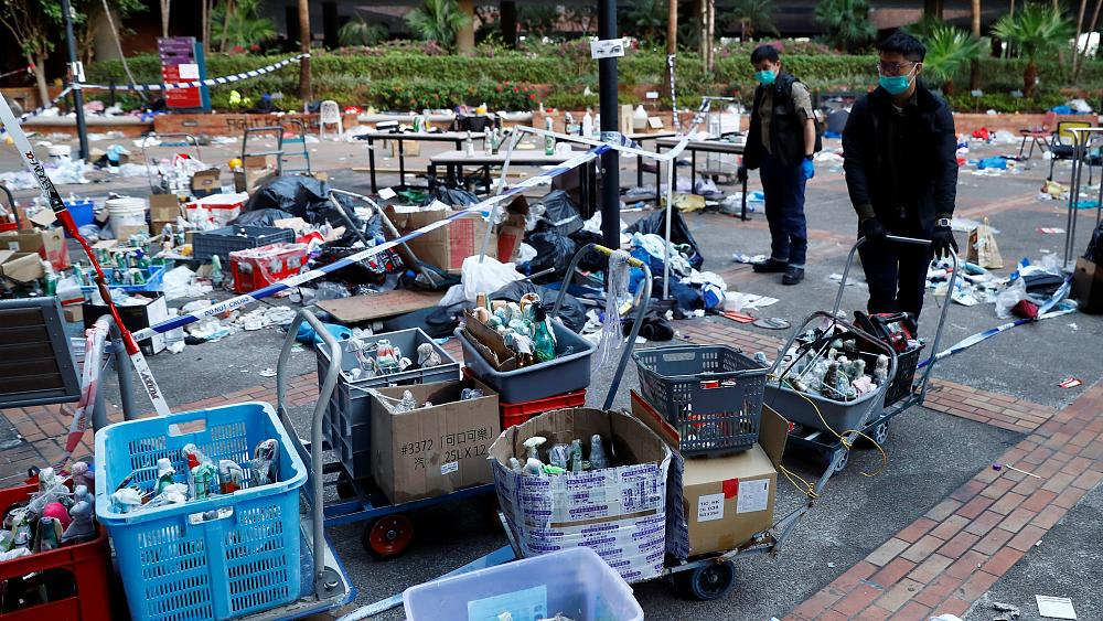 Hong Kong police seize roughly 4,000 petrol bombs on university campus