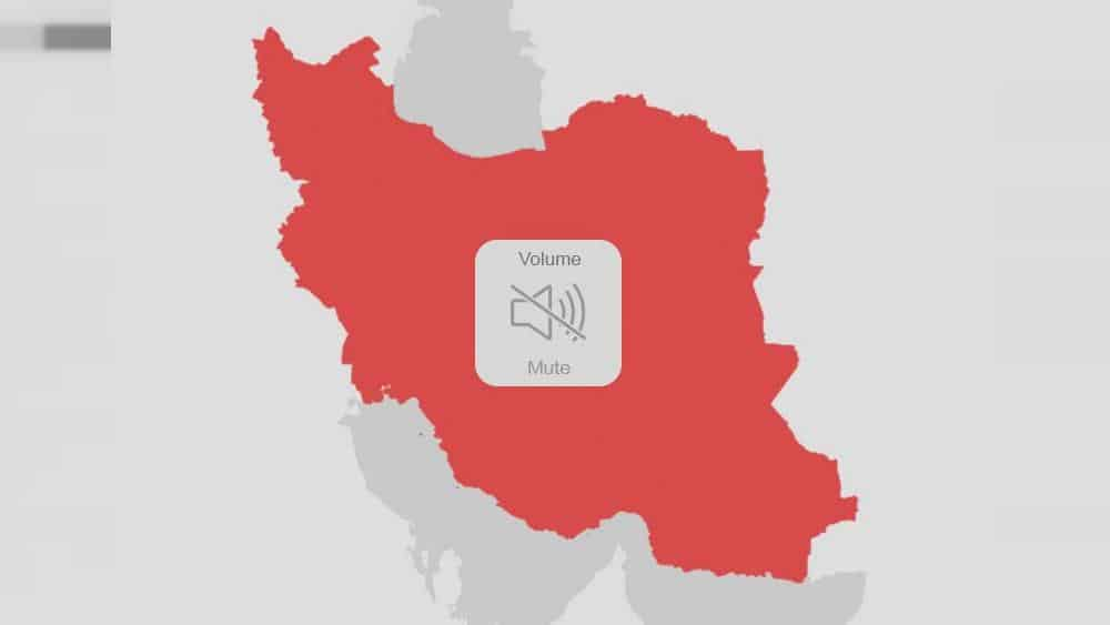 How did Iran's government pull the plug on the Internet?