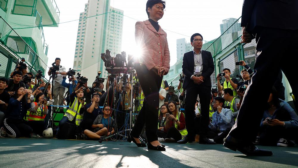Pro-democracy victory in Hong Kong puts pressure on Beijing-backed leader Carrie Lam