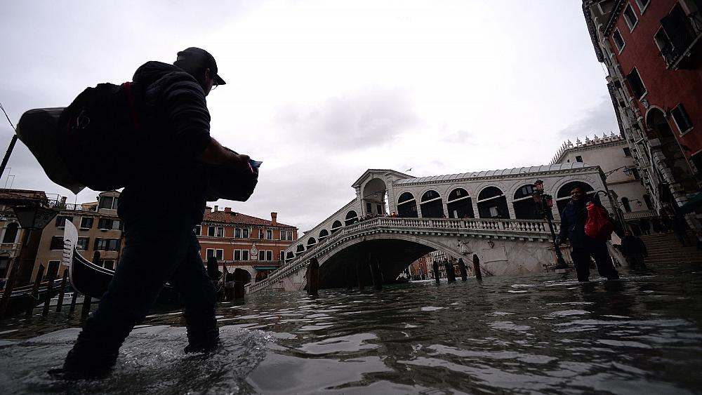 Record flooding pushes a new worry on Venice: Fleeing Venetians