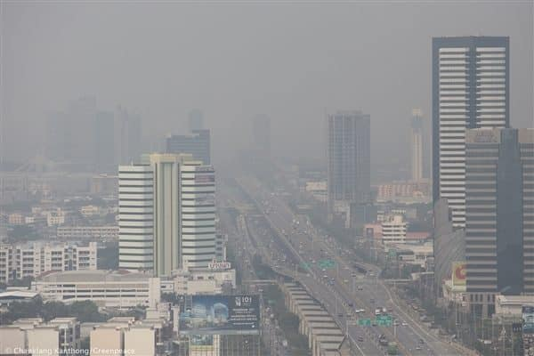 Excessive PM2.5 particulate found in ten areas of Bangkok and suburbs