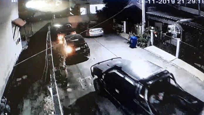 Man Rams Truck Into Two Cars For Blocking His Driveway