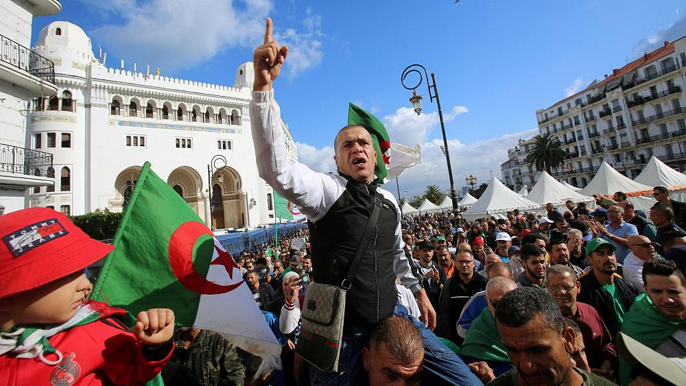 Protesters out in force ahead of Algeria's presidential election
