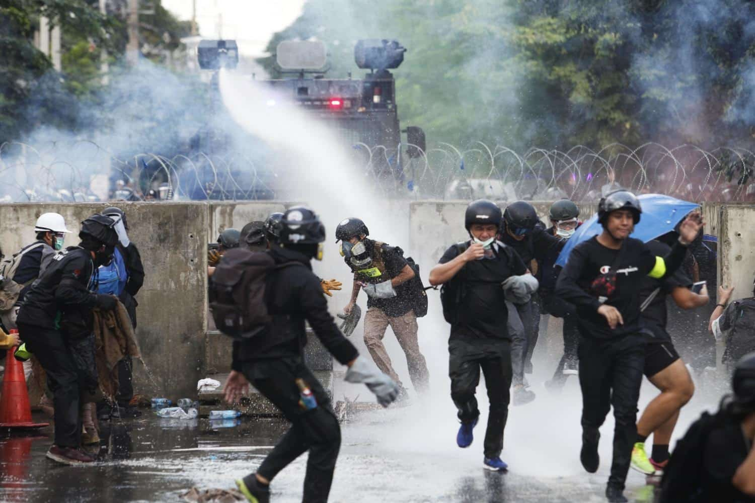 Thailand protesters in latest clash with police